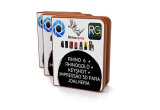 Formação completa em modelagem 3D joias. Rhinoceros Rhinogold Keyshot